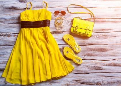 New york fashion week yellow